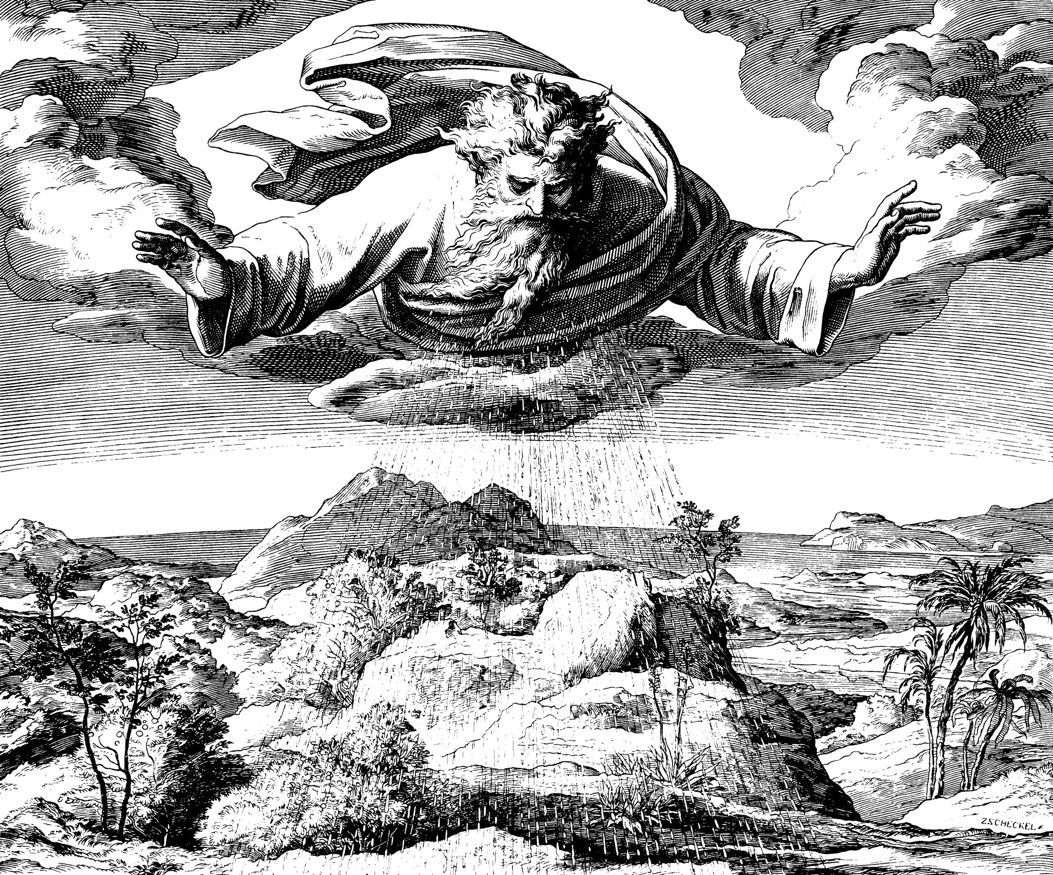 Julius Schnorr von Carolsfeld, woodcut for The Bible in Pictures (1860)